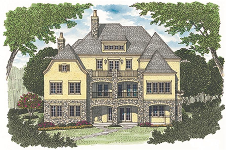 Home Plan Rendering of this 4-Bedroom,7428 Sq Ft Plan -7428