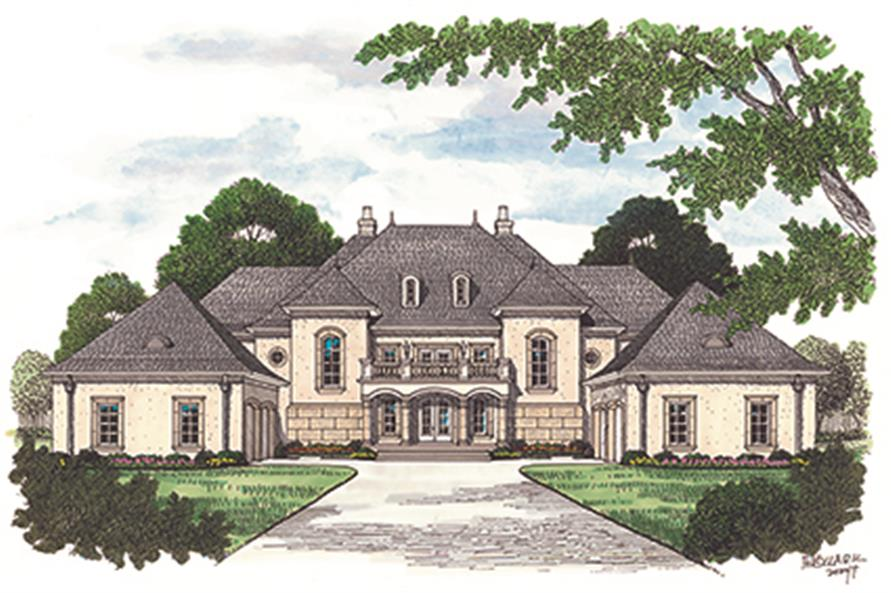 Home Plan Rendering of this 5-Bedroom,8126 Sq Ft Plan -8126