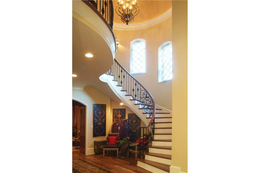 Entry Hall: Staircase of this 7-Bedroom,8933 Sq Ft Plan -8933