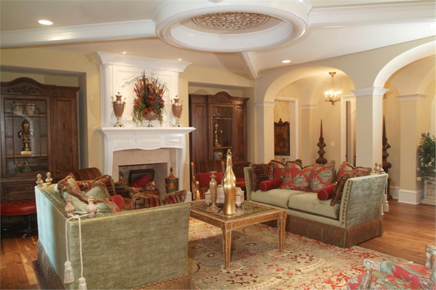 Great Room of this 7-Bedroom,8933 Sq Ft Plan -8933