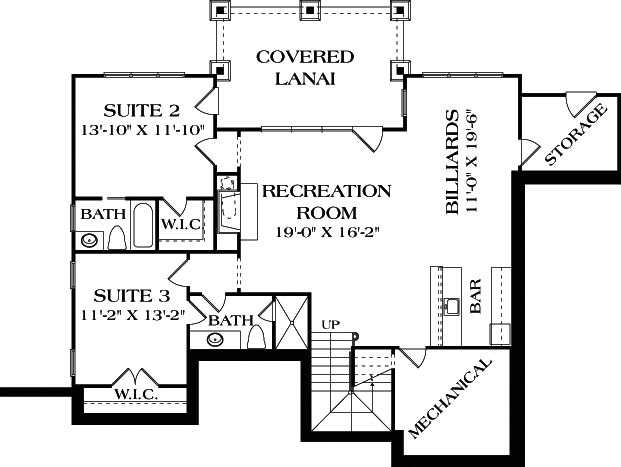 Cottage house plan 180 1035 3 bedrm 2764 sq ft home for Empty nester house plans with basement