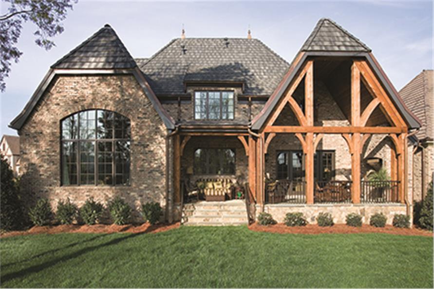 180-1037: Home Exterior Photograph-Rear View