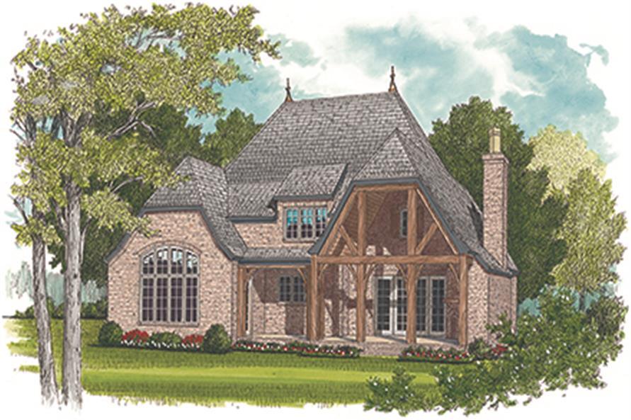 180-1037: Home Plan Rendering