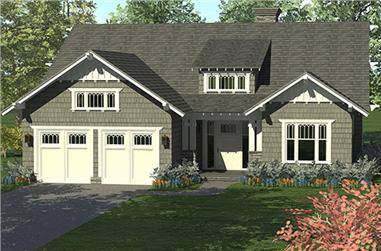 4-Bedroom, 2519 Sq Ft Craftsman Home Plan - 180-1040 - Main Exterior