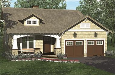 3-Bedroom, 2029 Sq Ft Craftsman House Plan - 180-1042 - Front Exterior