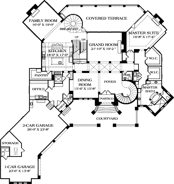 European house plan 180 1043 5 bedrm 9104 sq ft home plan for 6000 square foot house plans