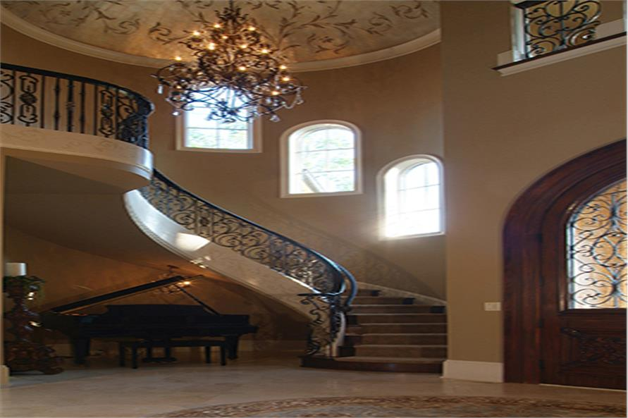 Entry Hall: Staircase of this 5-Bedroom,9104 Sq Ft Plan -9104
