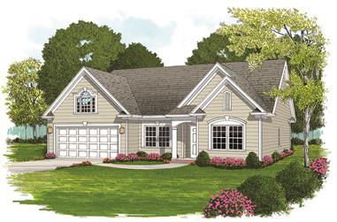 4-Bedroom, 1748 Sq Ft Ranch House Plan - 180-1044 - Front Exterior