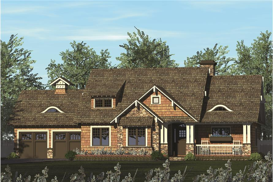 3-Bedroom, 1868 Sq Ft Craftsman House Plan - 180-1045 - Front Exterior