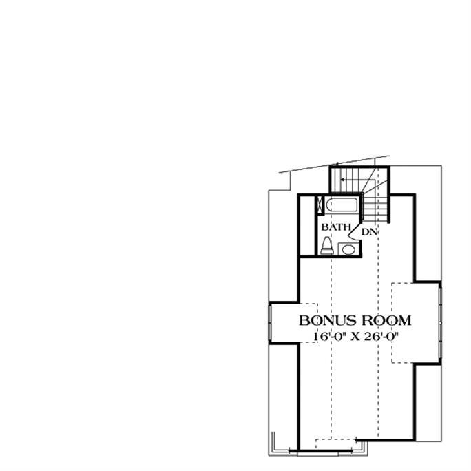 Astounding Single Story House Plans With Bonus Room Above