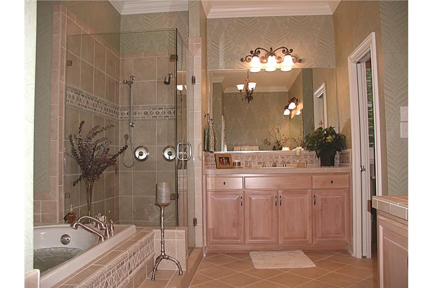 180-1047: Home Interior Photograph-Master Bathroom