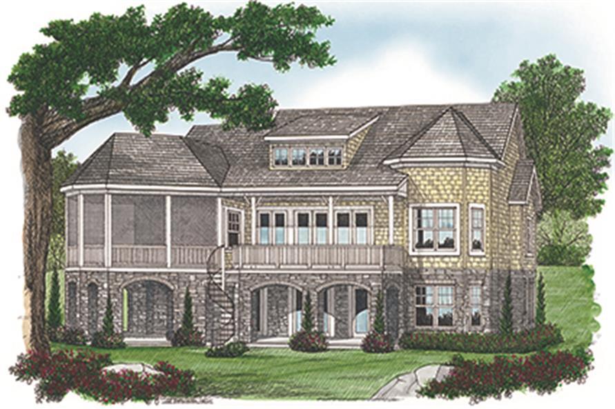 Home Plan Rendering of this 4-Bedroom,3879 Sq Ft Plan -3879