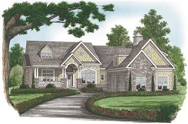 4-Bedroom, 3879 Sq Ft Craftsman Home Plan - 180-1048 - Main Exterior