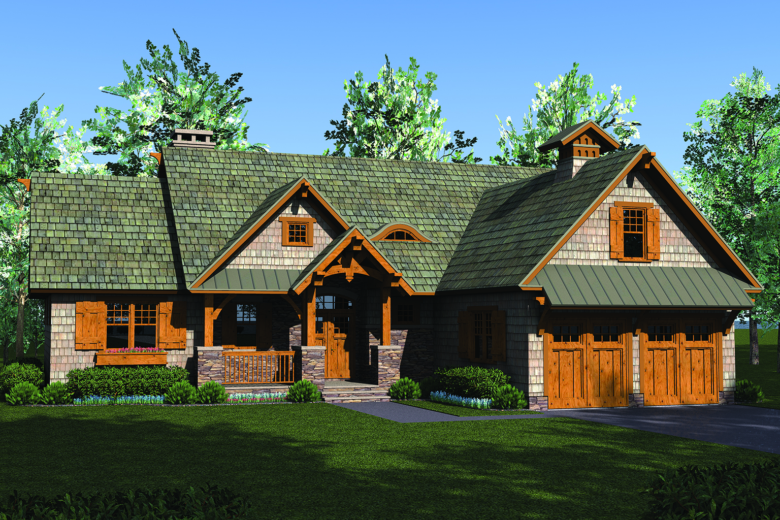 Craftsman house plan 180 1049 3 bedrm 2074 sq ft home for Rustic craftsman house plans