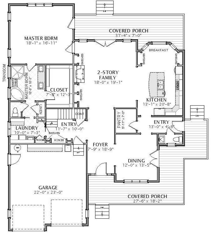 182-1002: Floor Plan Main Level