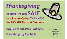 Thanksgiving Plan Sale: 10% Off ALL House Plans at ThePlanCollection.com