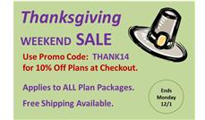 Thanksgiving Weekend Sale: 10% Off ALL House Plans at ThePlanCollection.com