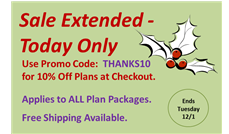 Cyber Monday Sale - Extended: 10% Off ALL House Plans at ThePlanCollection.com