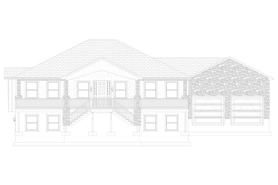 Home Plan Front Elevation of this 2-Bedroom,2477 Sq Ft Plan -187-1000