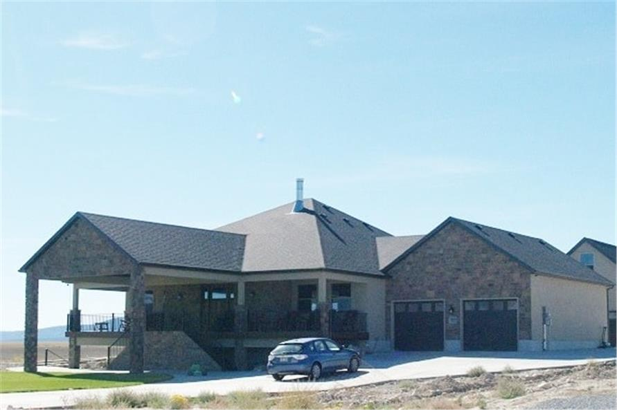 Front View of this 2-Bedroom,2477 Sq Ft Plan -187-1000