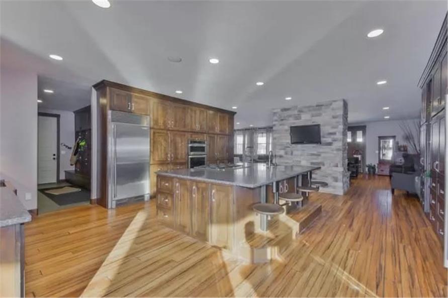 Kitchen: Kitchen Island of this 2-Bedroom,2477 Sq Ft Plan -187-1000