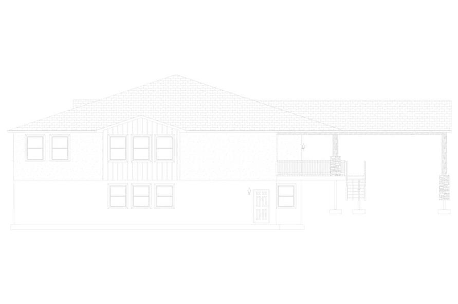 Home Plan Left Elevation of this 2-Bedroom,2477 Sq Ft Plan -187-1000