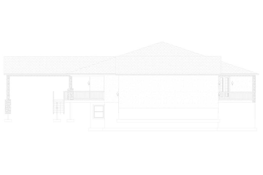 Home Plan Right Elevation of this 2-Bedroom,2477 Sq Ft Plan -187-1000