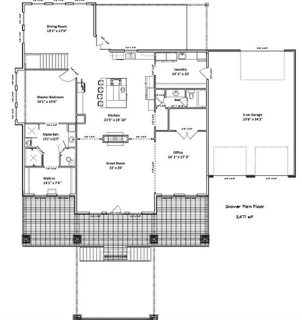 187-1000: Floor Plan Main Level