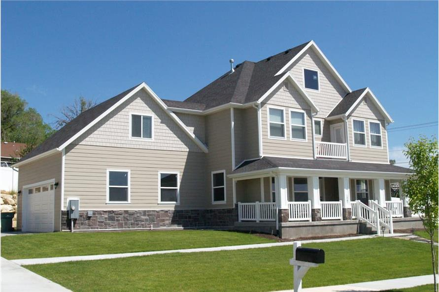 Left Side View of this 4-Bedroom,3296 Sq Ft Plan -187-1001