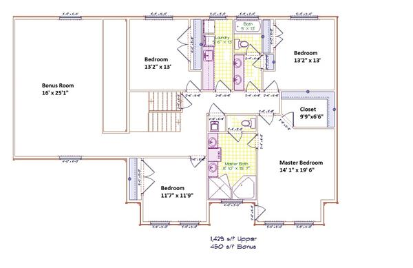 187-1001: Floor Plan Upper Level