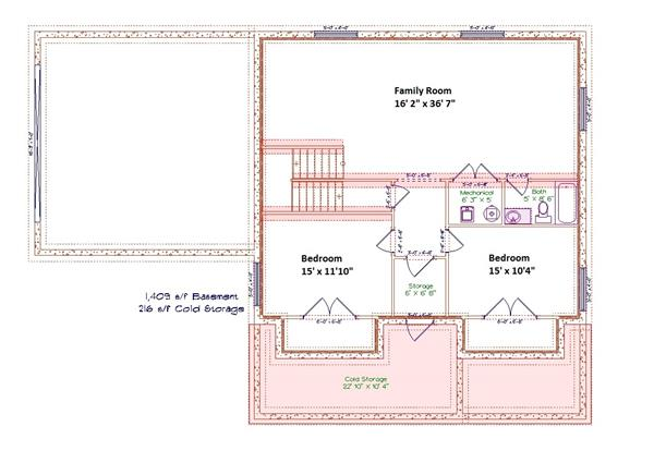 187-1001: Floor Plan Basement