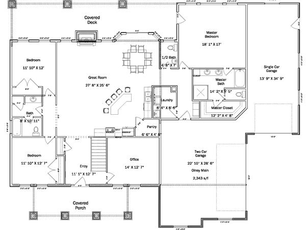 187-1003: Floor Plan Main Level