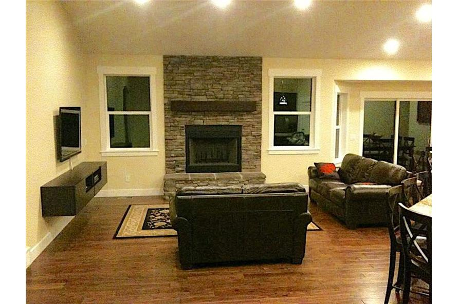 Great Room: Fireplace of this 6-Bedroom,2343 Sq Ft Plan -187-1003