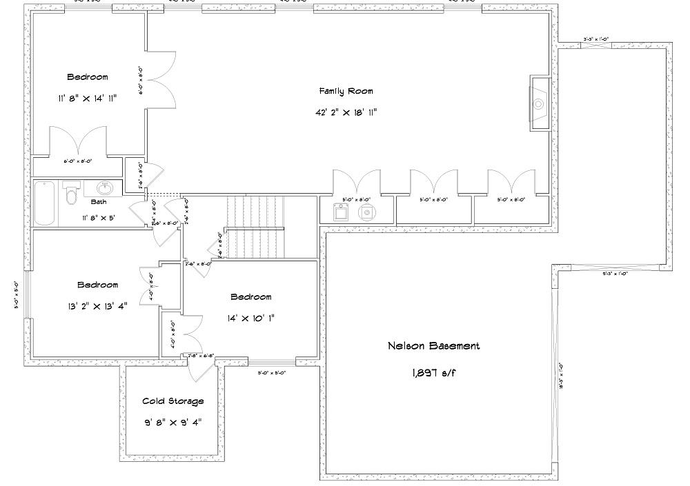 187-1004: Floor Plan Basement