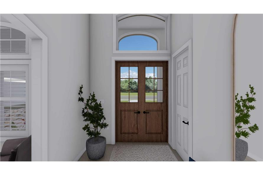 Entry Hall of this 2-Bedroom,1831 Sq Ft Plan -187-1004
