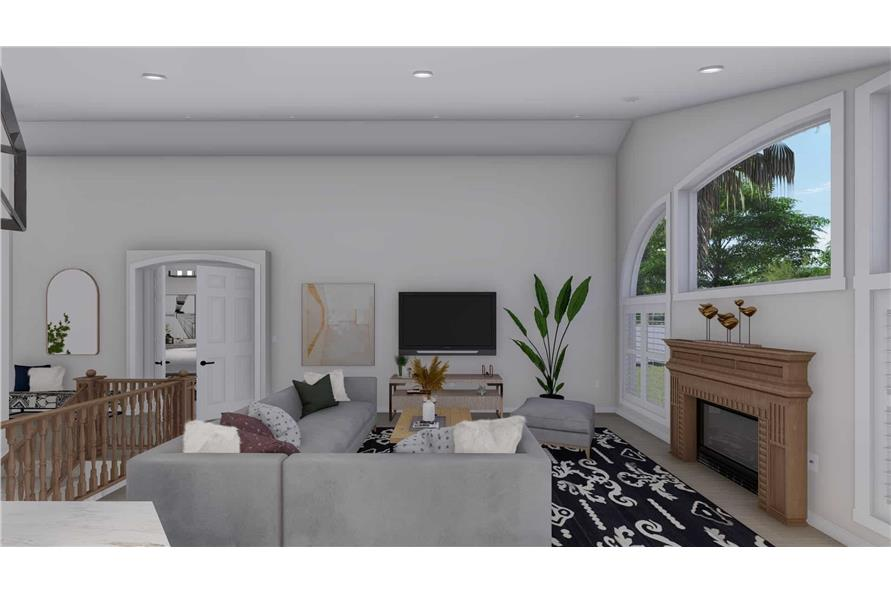 Great Room of this 2-Bedroom,1831 Sq Ft Plan -187-1004