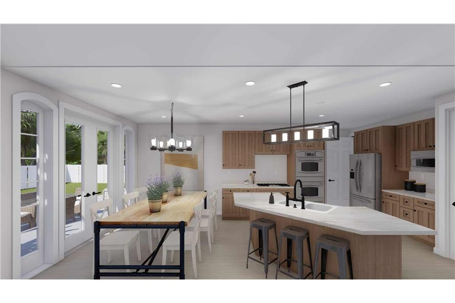 Kitchen of this 2-Bedroom,1831 Sq Ft Plan -187-1004