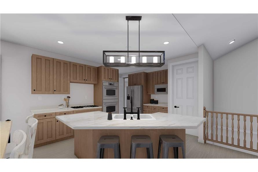 Kitchen Eating Bar of this 2-Bedroom,1831 Sq Ft Plan -187-1004