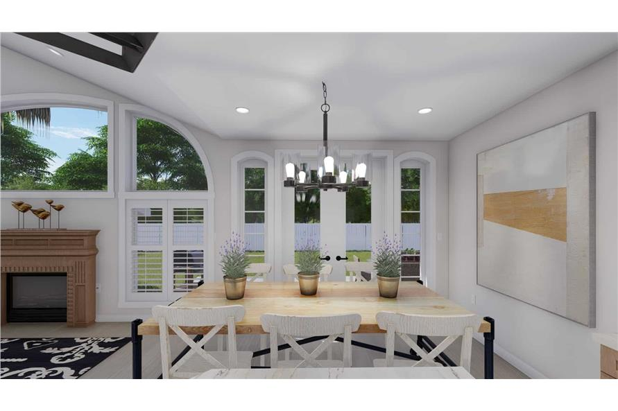 Dining Room of this 2-Bedroom,1831 Sq Ft Plan -187-1004