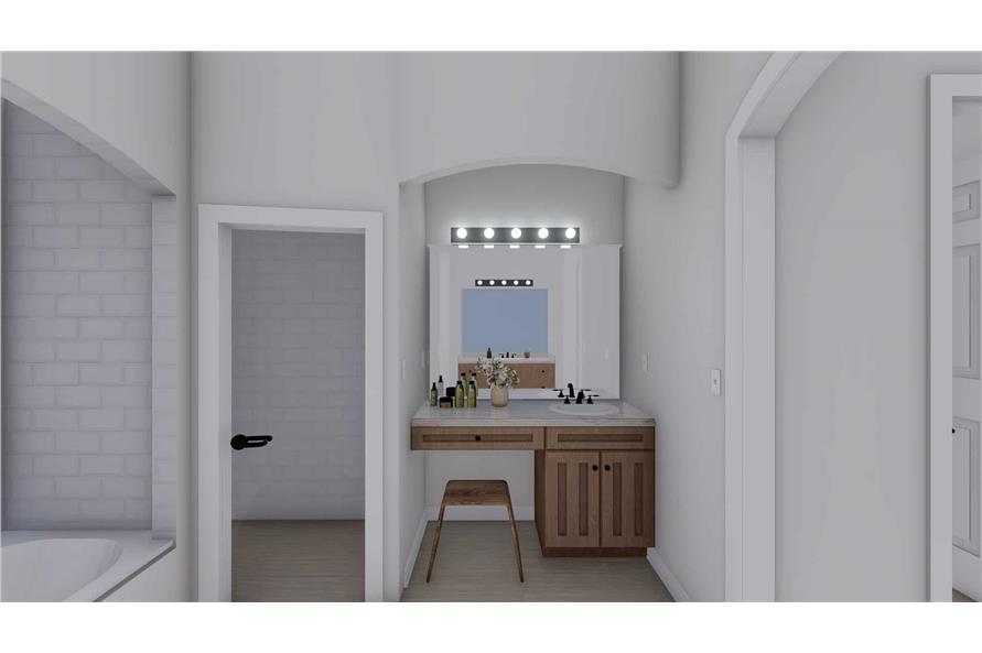 Master Bathroom Vanity of this 2-Bedroom,1831 Sq Ft Plan -187-1004