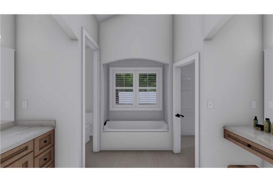 Master Bathroom Tub of this 2-Bedroom,1831 Sq Ft Plan -187-1004