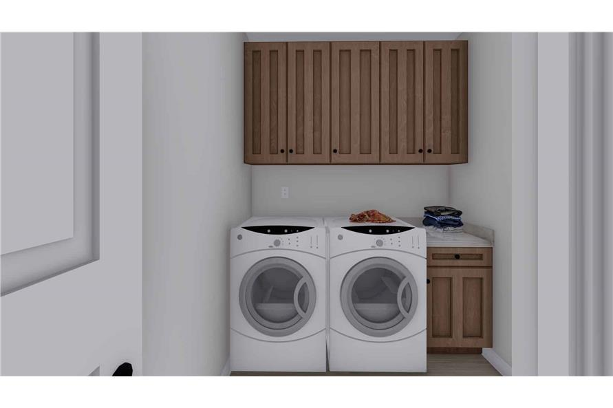 Laundry Room of this 2-Bedroom,1831 Sq Ft Plan -187-1004