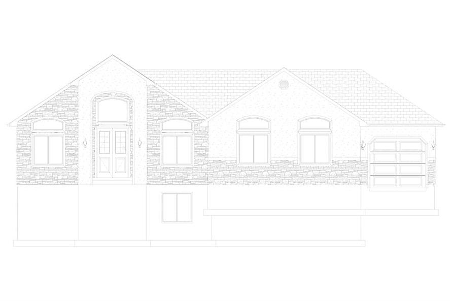 Home Plan Front Elevation of this 2-Bedroom,1831 Sq Ft Plan -187-1004