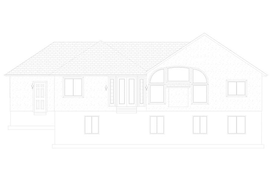 Home Plan Rear Elevation of this 2-Bedroom,1831 Sq Ft Plan -187-1004