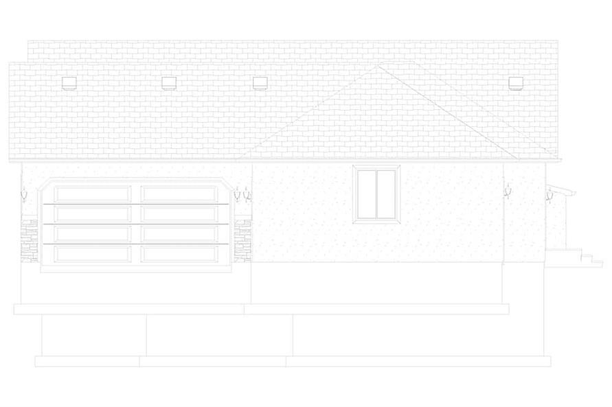 Home Plan Right Elevation of this 2-Bedroom,1831 Sq Ft Plan -187-1004