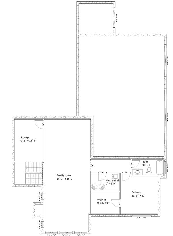 187-1005: Floor Plan Basement