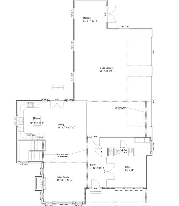 187-1005: Floor Plan Main Level