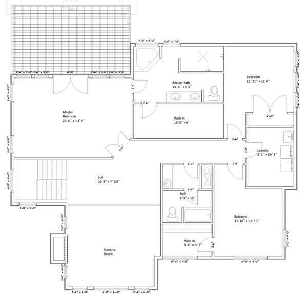 187-1005: Floor Plan Upper Level