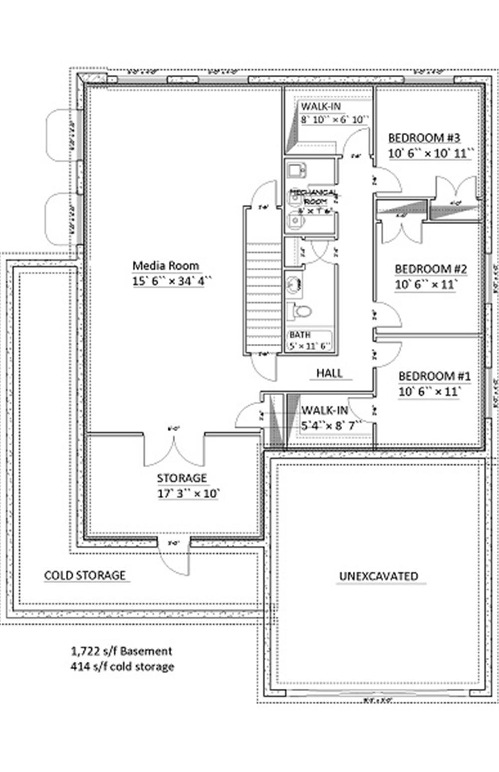 187-1006: Floor Plan Basement