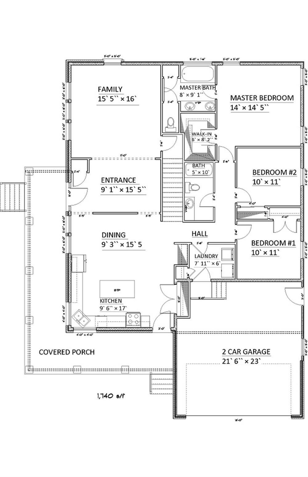 187-1006: Floor Plan Main Level